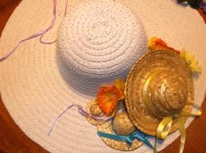 spring hat wreath layout