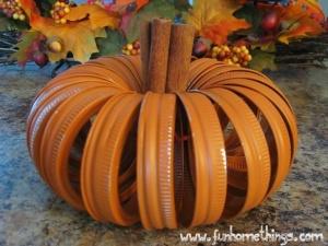 Canning Lid Pumpkins