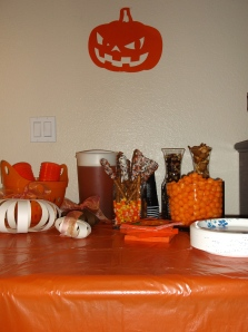 Pumpkin Party Table Display