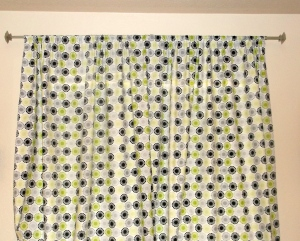 Finished Guest Room Curtains
