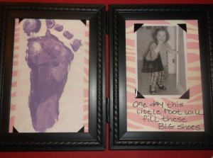 Baby's Footprint and Her Picture