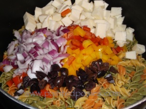 Chopped Pasta Salad Ingredients
