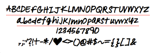 "Complete ""Amy"" Font"