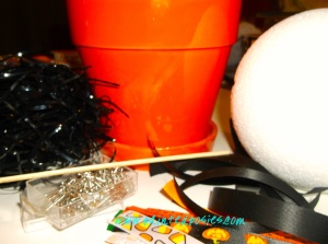 Halloween Topiary Supplies