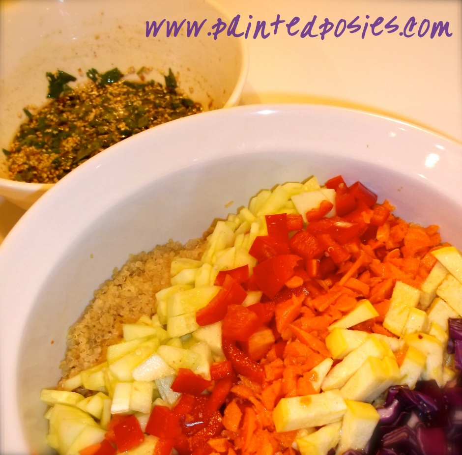Asian Quinoa Salad & Dressing Ingredients