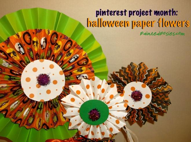 Pinterest Project Month: Halloween Paper Flowers