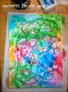 Watercolor, Salt and Glue Art Cover