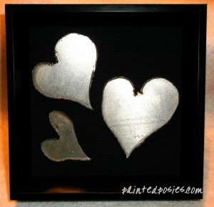 Framed Metal Hearts