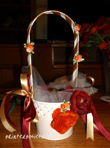Flower Girl Basket After