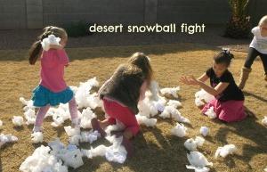 Desert Snowball Fight