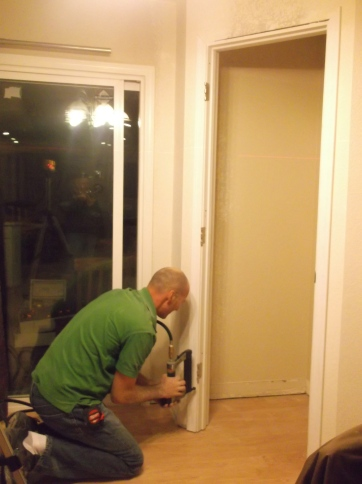 Joe Installing Pantry Moulding