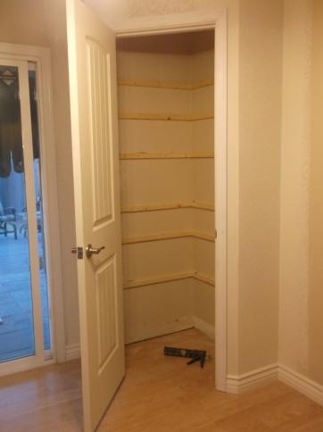 Finished Shelf Cleats