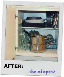 Pots and Pans Cabinet, After