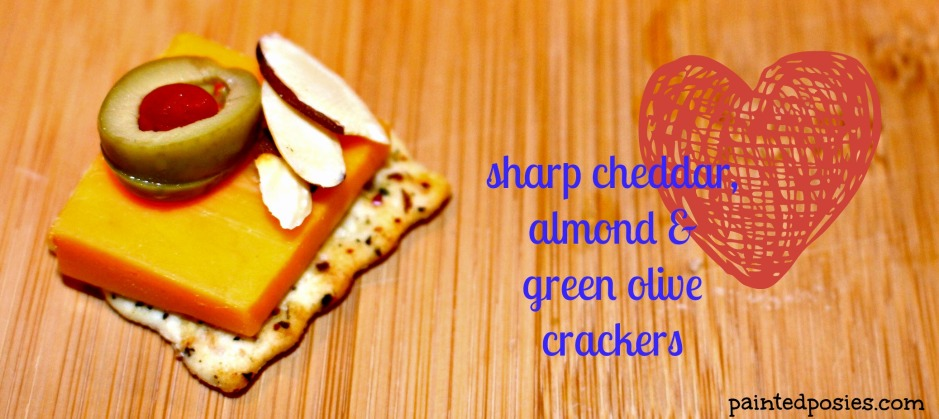 Sharp Cheddar, Almond and Green Olive Cracker