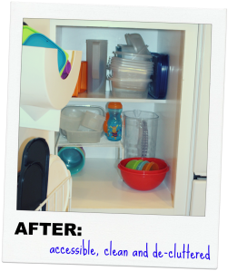 Tupperware Cabinet, After