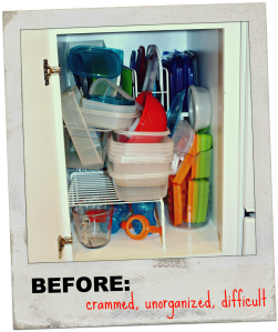 Tupperware Cabinet, Before