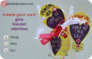Create Your Own: Glow Bracelet Valentines