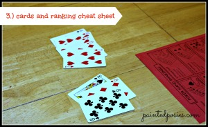 Poker Party Cards and Ranking Cheat Sheet