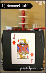 Poker Party Dessert Table