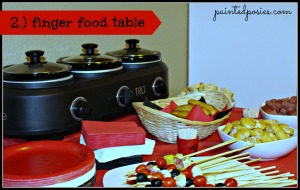 Poker Party Finger Food Table
