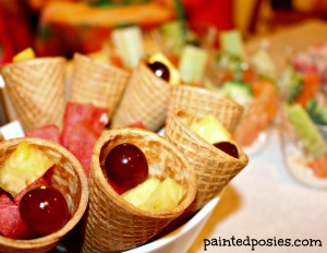 Salon Party Fruit Cones