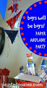 Boys Will Be Boys Paper Airplane Party