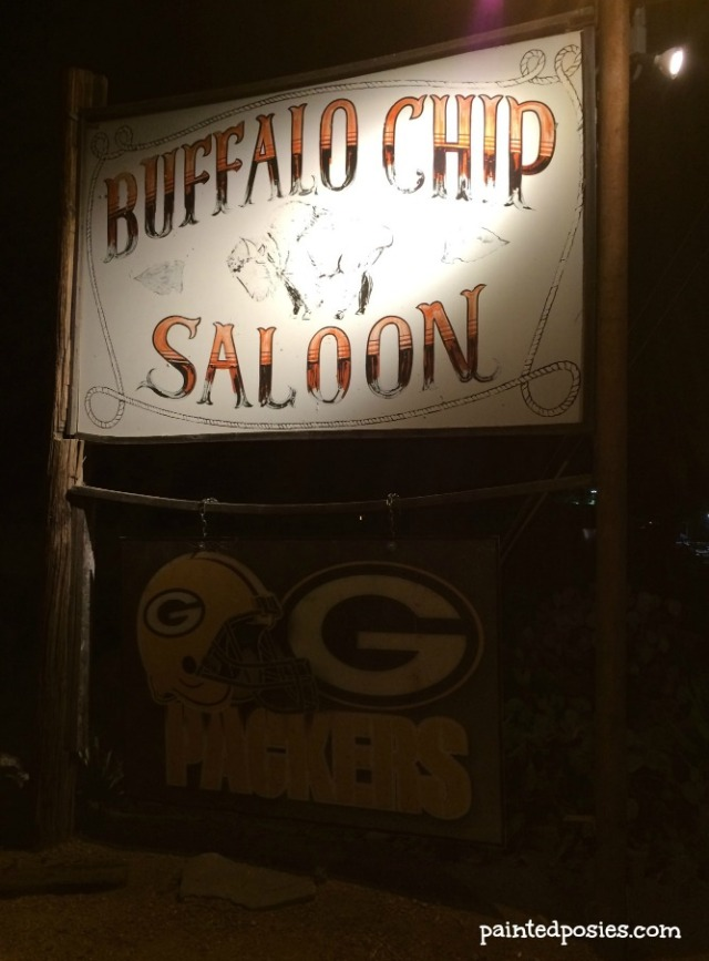 Buffalo Chip Saloon Signage