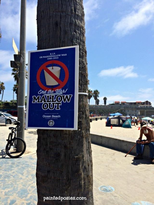 Ocean Beach 2014 Mallow Out  Sign