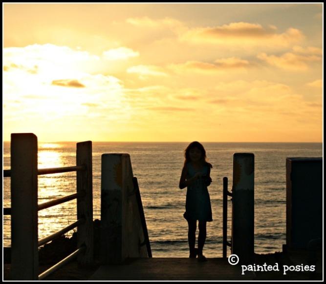 Ocean Beach Silhouette