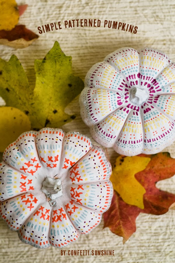 http://www.confettisunshine.com/2013/10/simple-pattern-pumpkins-diy-project.html