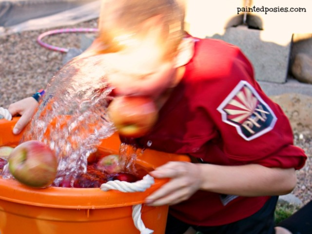 Bobbing for Apples Action Pumpkin Party 2014