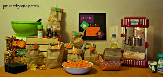 Popcorn Bar Pumpkin Party 2014