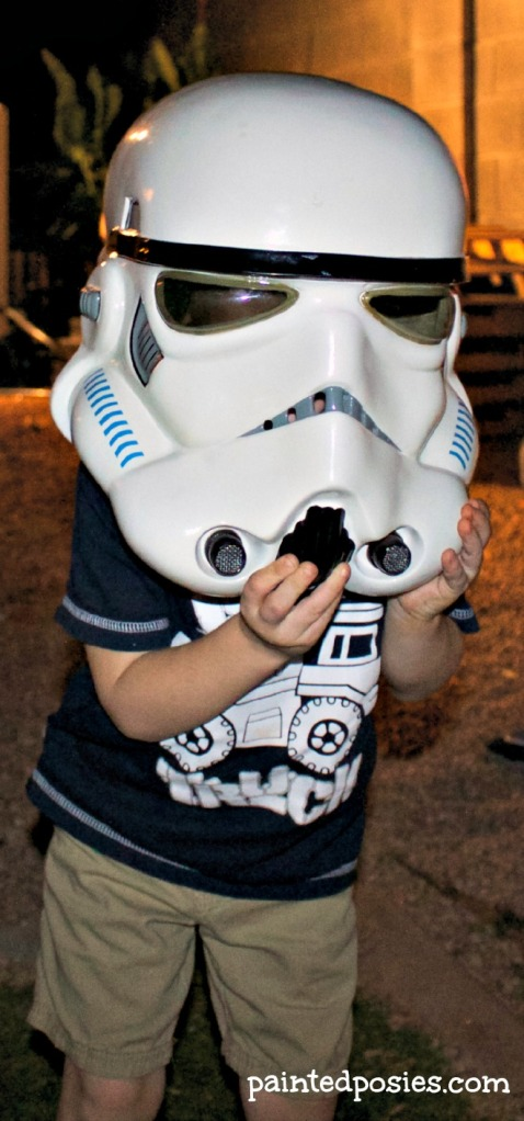Storm Trooper Head Pumpkin Party 2014