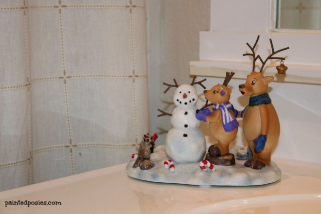 Christmas Decorations Guest Bathroom Sink December 2014