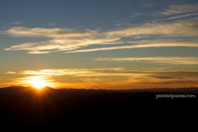Mogollon Rim Sunset November 2014