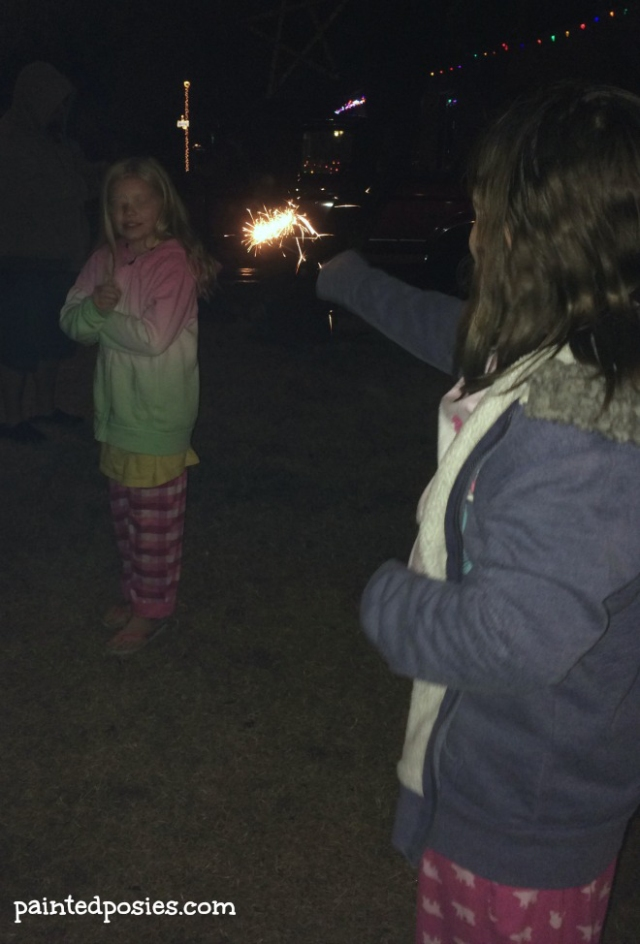 New Years Eve Sparklers December 2014