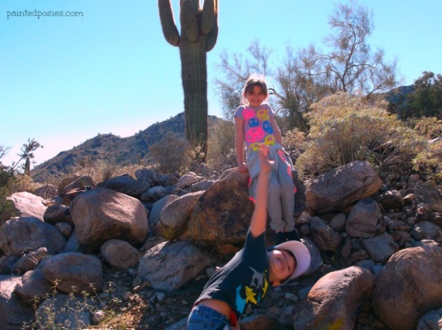 White Tank Mountains Kids Hike, Waddell Arizona