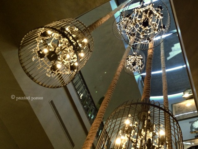 Wandering Eye Wednesday, Restoration Hardware Lanterns, Industrial Lighting, Elegant Rustic Birdcages