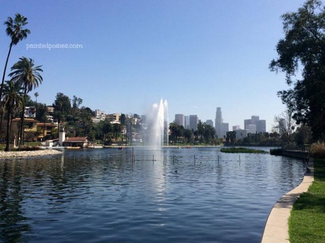 Echo Park Fountain LA California