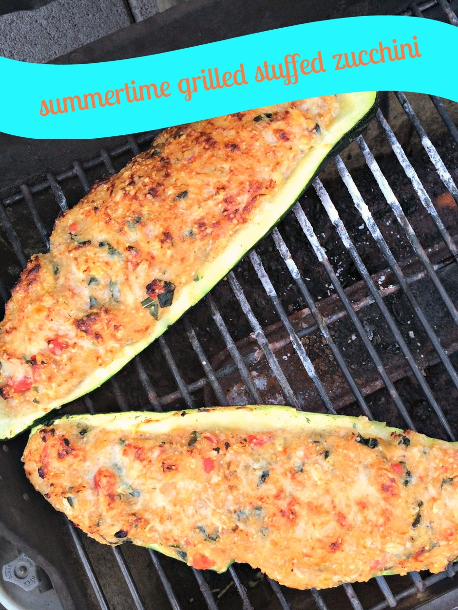 Summertime Grilled Stuffed Zucchini paintedposies.com